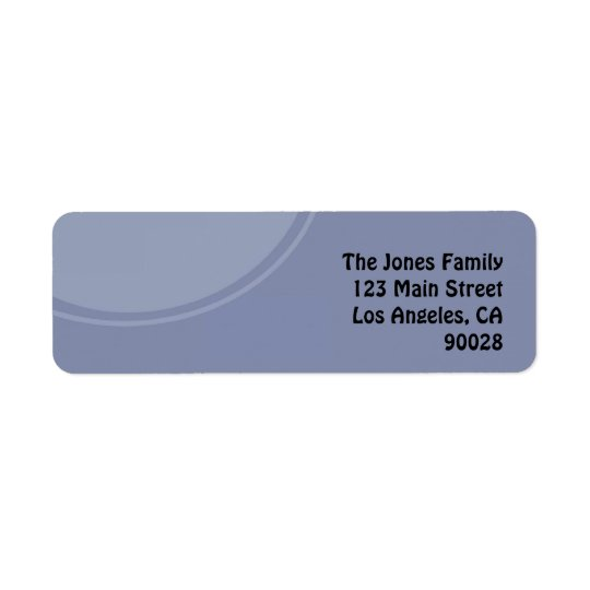 Light Blue Circle Return Address Label
