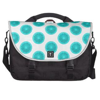 Light Blue Citrus Slice Polka Dots Laptop Bags