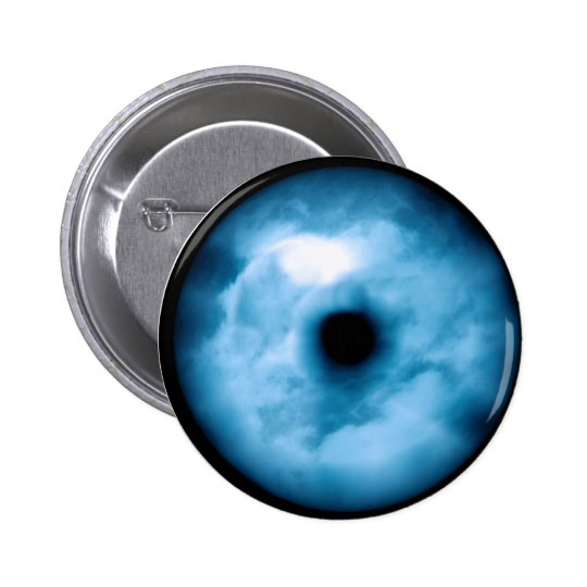 Light Blue cloudy eye graphic 6 Cm Round