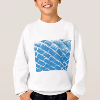 light blue cobbles reversed sweatshirt