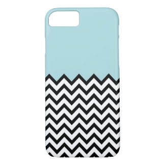 Light Blue Colour Block Chevron iPhone 7 case