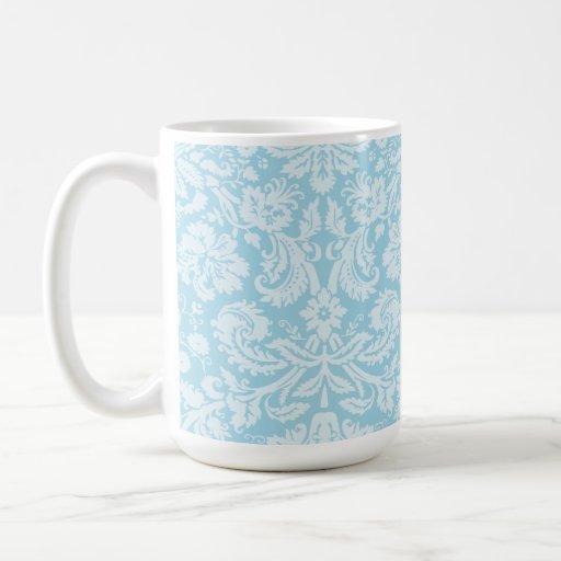 Light Blue Damask Mug