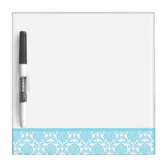 Light Blue Damask Pattern Dry Erase Board