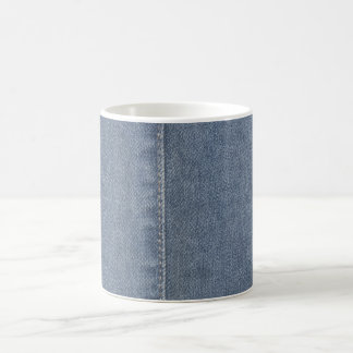 Light Blue Denim Seam Basic White Mug