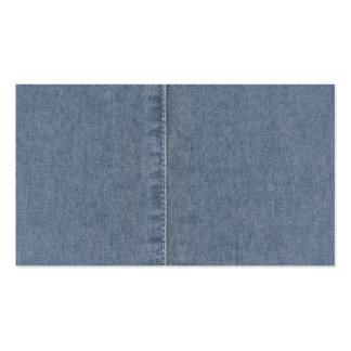 Light Blue Denim Seam Business Card Template