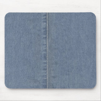 Light Blue Denim Seam Mousepad