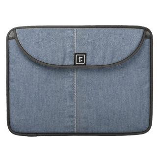 Light Blue Denim Seam Sleeve For MacBook Pro