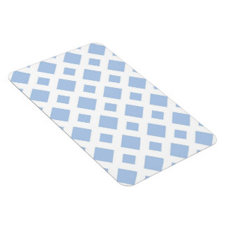 Light Blue Diamonds on White Rectangular Photo Magnet
