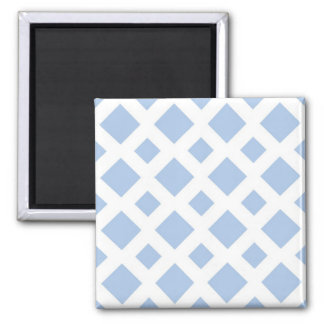Light Blue Diamonds on White Square Magnet
