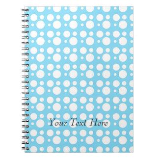 light blue dots, a simple, pleasant decoration notebooks