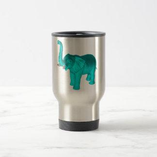 Light Blue Elephant Stainless Steel Travel Mug