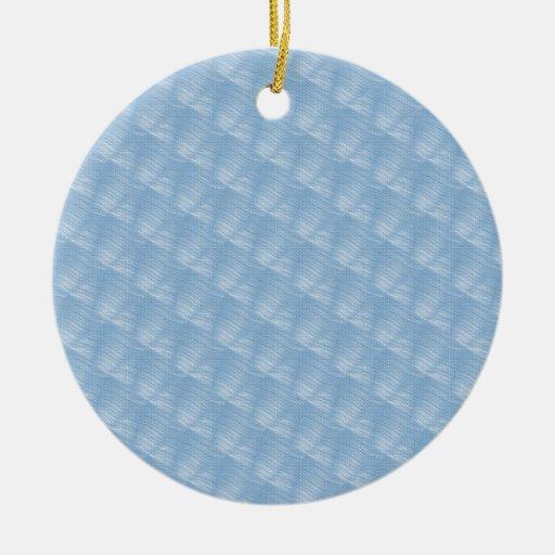 Light Blue Fabric Effect Christmas Tree Ornament