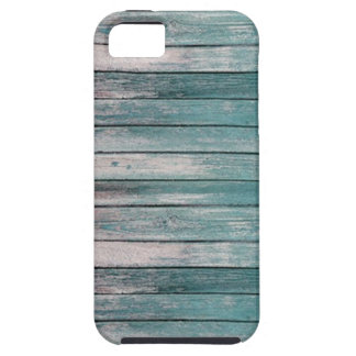 Light Blue Faded Wood Case For The iPhone 5