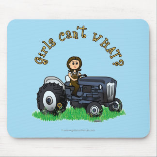 Light Blue Farmer Mouse Mat