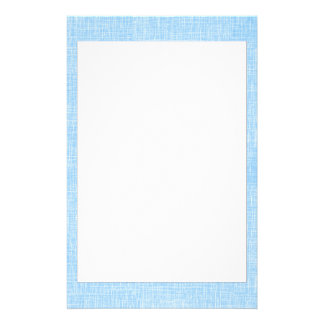 Light Blue Faux Linen Fabric Textured Background Customized Stationery