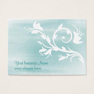 light blue flourish customizable business card