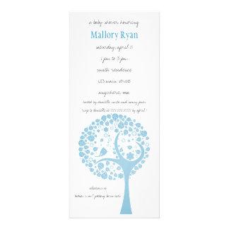 Light Blue Flowering Tree Baby Shower Invitation