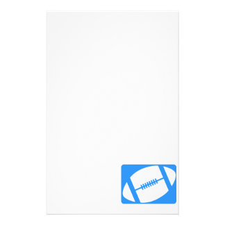 Light Blue Football Stationery Design