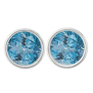 Light blue Gemstone Aquamarine March Birthstone Cufflinks