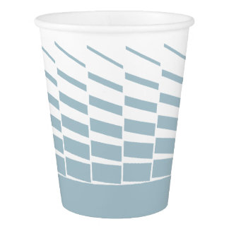 Light blue geometric kinetic art graphics paper cup