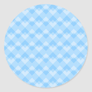 Light Blue Geometric Pattern. Round Sticker