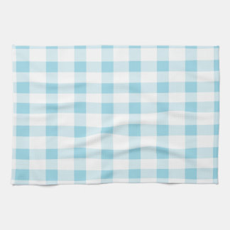Light Blue Gingham Tea Towel