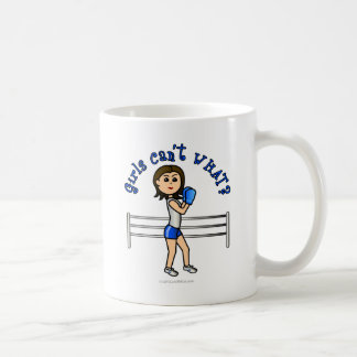 Light Blue Girl Boxer Coffee Mug