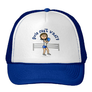 Light Blue Girl Boxer Mesh Hats