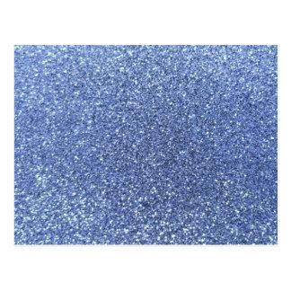 Light blue glitter postcard