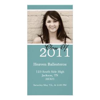 Light Blue Graduation 2011 Photo Card Invites