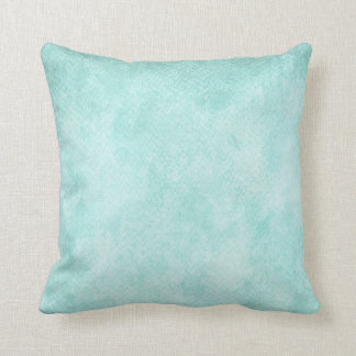 Light Blue Green Watercolor Paper Background Blank Cushion