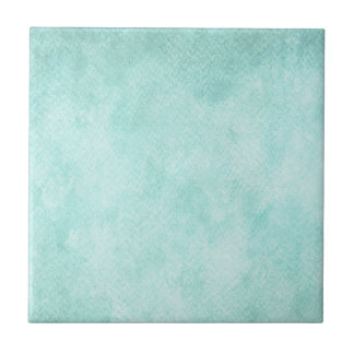 Light Blue Green Watercolor Paper Background Blank Small Square Tile