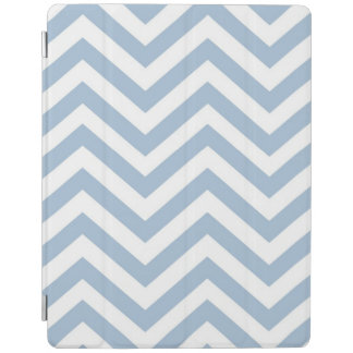 Light Blue Grunge Textured Chevron iPad Cover