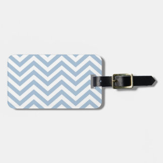 Light Blue Grunge Textured Chevron Luggage Tag