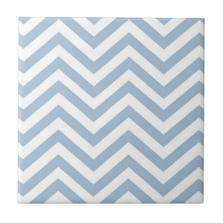 Light Blue Grunge Textured Chevron Small Square Tile