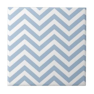 Light Blue Grunge Textured Chevron Tile