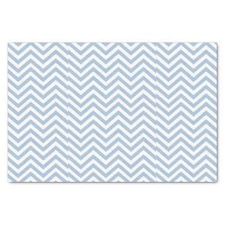 Light Blue Grunge Textured Chevron Tissue Paper