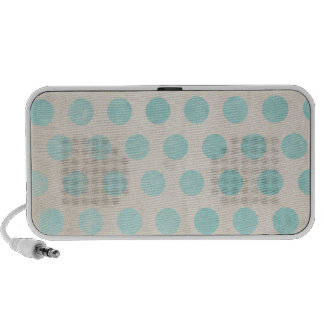light blue grungy polka dots laptop speakers