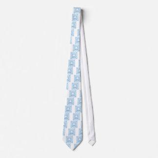 Light Blue Heart Design Men's Necktie