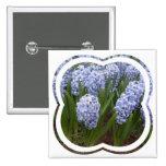 Light Blue Hyacinth Square Pin
