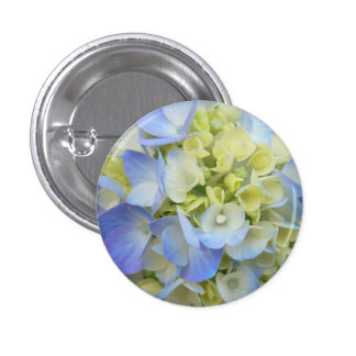 Light Blue Hydrangea 3 Cm Round Badge