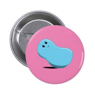 Light Blue Jellybean Button