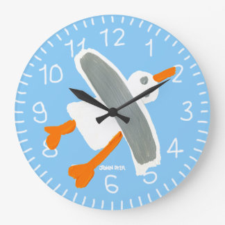 Light Blue John Dyer Seagull wall clock