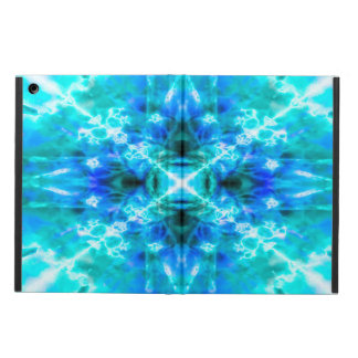 Light blue kaleidoscope pattern iPad air case
