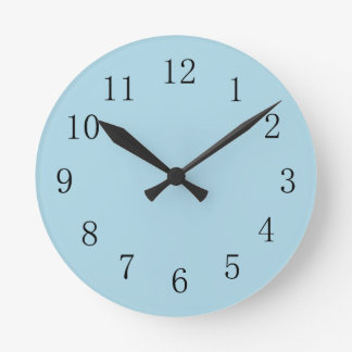 Light Blue Kitchen Wall Clock