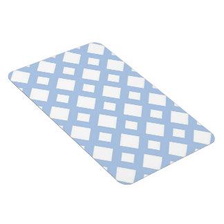Light Blue Lattice on White Rectangular Photo Magnet