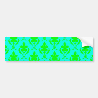 Light Blue & Light Green Ornate Wallpaper Pattern Bumper Sticker