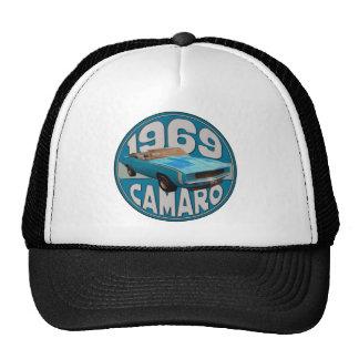 Light Blue Line 1969 Camaro Super Sport Cap