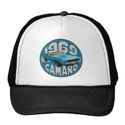 Light Blue Line 1969 Camaro Super Sport Mesh Hats