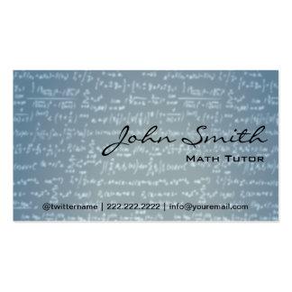 Light Blue Math Formulas Math Tutor Business Card